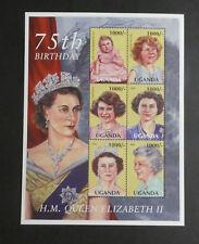 TIMBRES OUGANDA**- Bloc-feuillet - 75 anniversaire d'Elizabeth II (A240)