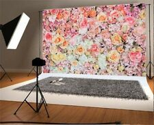 Blooms Rose Flowers Photography Backgrounds 7x5ft Wedding Vinyl Photo Backdrops