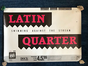 LATIN QUARTER Original Konzert Poster- Hamburg Docks-Tour Plakat 1989