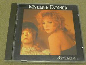 MYLENE FARMER ainsi soit je CD chanson FRANCE PRESSING