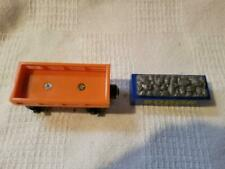 Thomas Wooden VERY Rare Orange Cargo Car w/BLUE Cargo/2000/RETIRED