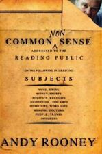 Common Nonsense, Andy Rooney, Very Good Book