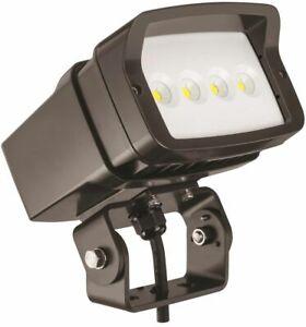 Landscape Flood Spot Light Outdoor Integrated LED 5000K Adjustable Yoke Bronze