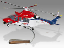 Agusta Westland AW139 Queensland Government Solid Wood Display Helicopter Model