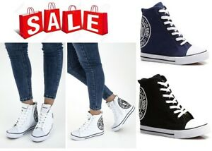 WOMENS-LADIES SNEAKERS,TRAINERS HIGH WEDGE LACE UP, ZIP ANKLE BOOTS NEW*UK STOCK