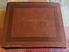 Vintage Brown Cardboard Embossed Cover 45 Record Album 15 Record Sleeves