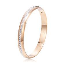 Womens Vintage Crystal 14K Gold Filled Hiden Clasp.Elegant Bangle Bracelet Hot
