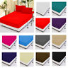 Luxury Cotton Fitted Sheets Flat Sheets or Pillow cases Single Double King