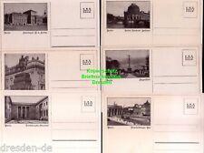 118818 6 AK Berlin um 1935 Serie 6 Karten Staatsoper Reichskanzlei Brandenburger