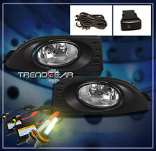 2005-2007 ACURA RSX COUPE 2DR BUMPER DRIVING FOG LIGHT LAMP W/HARNESS+3K HID KIT
