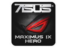"Asus ROG MAXIMUS IX HERO 1""x1"" Chrome Effect Domed Case Badge / Sticker Logo"