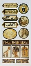 AFRICA SAFARI THEMED 5X12 IN SHEET SANDYLION STICKERS EXPEDITION BOTSWANA DISNEY