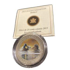 2013 Canada 25-Cent Coloured Coin - Mallard