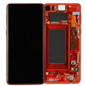 LCD OLED S10e G970F ECRAN LCD TACTILE SAMSUNG GALAXY AVEC CHASSIS ROUGE