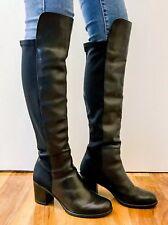 Dune Leather Knee High Length Heel Boots UK 7