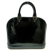 LOUIS VUITTON Alma PM Monogram Vernis Tote Handbag Bleu Nuit M91612