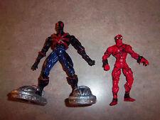 2 Spider-Man Figures: Spider-Man & Venom with dettachable Feet Accessories Used
