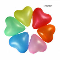 "100Pcs 12"" Heart Shaped Thick Latex Balloons for Wedding Birthday Party Decor"