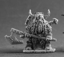 Dwarf Bodyguard Reaper Miniatures Dark Heaven Legends Fighter Warrior Axe Melee