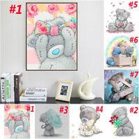 7 Style 5D Cute Teddy Bear Cube Diamond Painting Embroidery Craft Home Art Decor