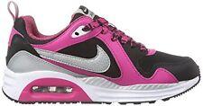Nike Air Max TRAX (GS) Kids 7Y (Black/Metallic Silver-White) Brand New