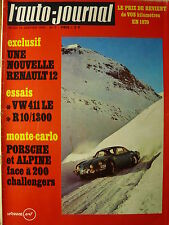 L'AUTO JOURNAL 1970 1 VOLKSWAGEN 411 LE RENAULT 10 1300 MONTE CARLO CITRO MEHARI
