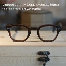 Vintage eyeglass frame Johnny Depp brown mens women optical eyeglass clear lens