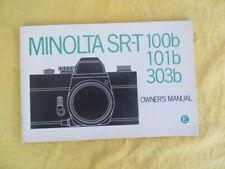 MINOLTA SR-T 100b / 101b / 303b - notice 1975