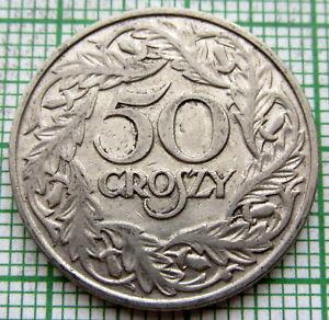 POLAND 1923 W 50 GROSZY, NICKEL