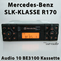 Original Mercedes Audio 10 BE3100 Becker Kassette R170 Autoradio SLK-Klasse A170