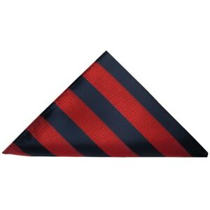 TIES R US Navy and Red Striped Men's Satin Pocket Square Wedding Handkerchief