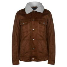 Pierre Cardin Suede Jacket Small Tan Cream Td081 TT 04