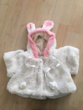 Baby Girls Easter Bunny Faux Fur Jacket Age 3-6 Months Winter Coat