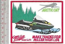 Vintage Snowmobile & Beer Arctic Cat Jag & Miller High Life Beer Promo Patch