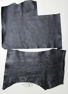 Black Leather Scraps handcrafts Sheep Leather offcuts Remnants Goatskin