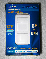 NEW! LEVITON IPX12-70Z Lighting Dimmer, Slide, 1-Pole or 3-Way, 277V for Mark 10