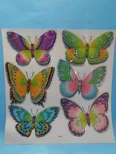 3D Wandtatoo Wandsticker Wandaufkleber Schmetterling 6 teilig neu