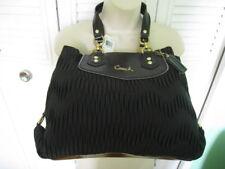 New COACH Ashley Gathered SatIn Carryall B4/ Black Satchel Bag F20050
