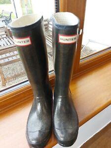 Hunter wellington boots size 4