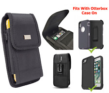 Cell Phone Metal Clip Holster Pouch Heavy Duty Canvas Cover For Otterbox Case on