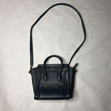 Celine Mini Luggage Bag Calfskin Leather Handbag Blue