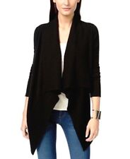 New $80 INC Womes Sz. S Open Front Rib-Trim Cardigan Draped Shawl Collar Sweater