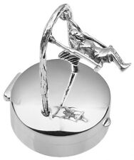 FAIRY ON SWING PILLBOX STERLING SILVER 925 NEW HALLMARKED FROM ARI D NORMAN