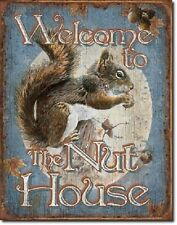 """12 1/2"""" X 16"""" Tin Sign Welcome To The Nut House Metal Sign New"""