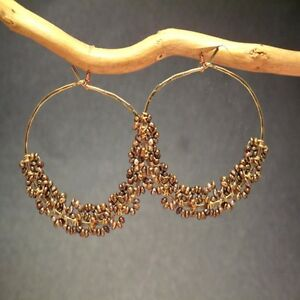 Seychelles 119 ~Seed Pearl Color Choice on Hoop earrings with Metal Choice