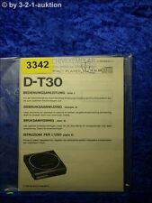 Sony Bedienungsanleitung D T30 CD Player (#3342)