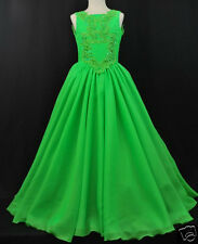 NEW Girl National Pageant Wedding Formal Party Dress Green size 3 4 5 6 7 14