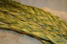 "10 Braids Organic SWEETGRASS Braid Native American Smudge Herb  24 - 27 "" Long"