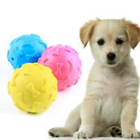 New Giggle Ball Pet Dog Tough Treat Trainning Chew Sound Activity Toy Squ Gift