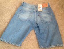 Levis mens 30 shorts denim 569 jean new Light Blue loose straight